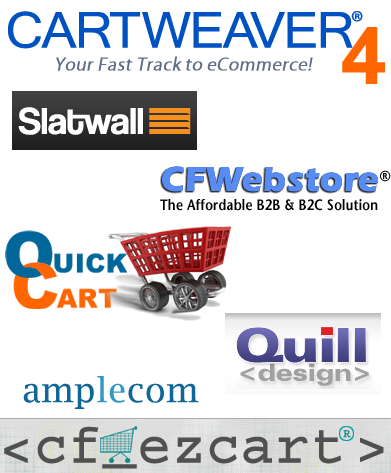ColdFusion Shopping Cart Software