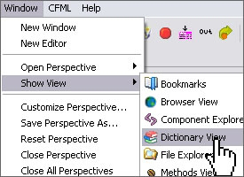 Selecting the Dictionary View