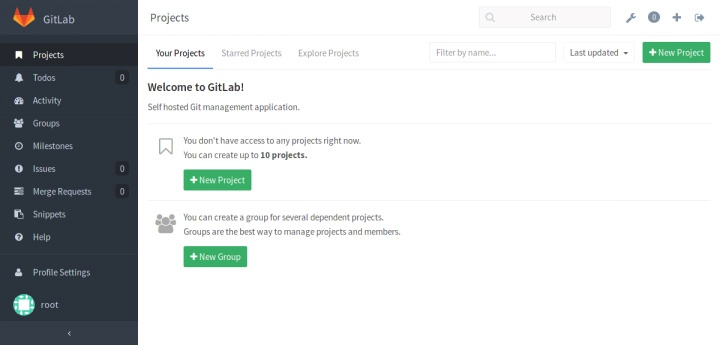 Creating your First Gitlab Project