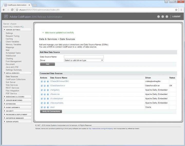 CData MongoDB Data Source