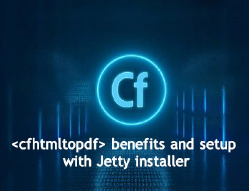 <cfhtmltopdf> tag benefits and setup with Jetty installer